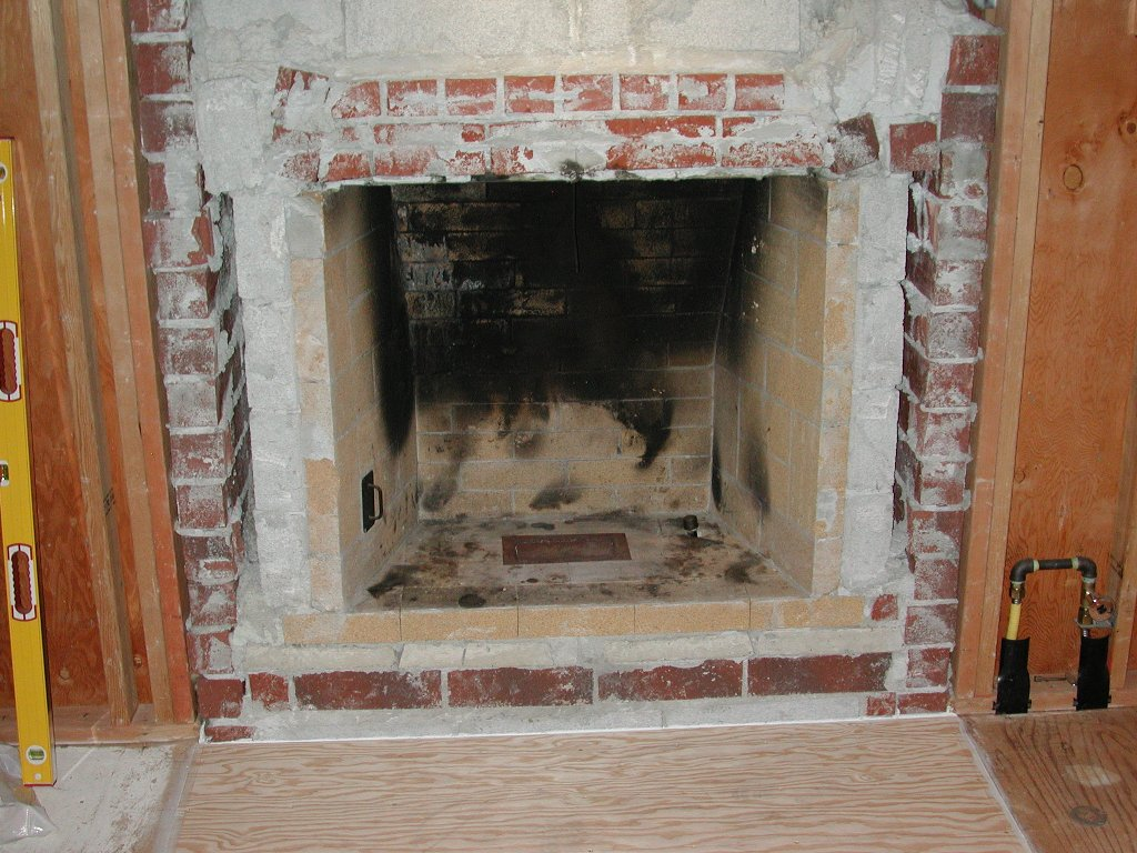 framing around fireplace opening for gas insert see pic